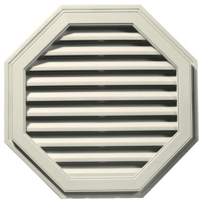 32 in. Octagon Gable Vent #082 Linen Product Photo