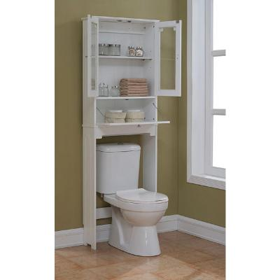 runfine etagere 24 in w x 69 in h x 8 in d over the toilet space saver storage in white. Black Bedroom Furniture Sets. Home Design Ideas