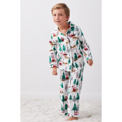 Family Flannel Kid's Santa 2-Piece Classic Pajama Set