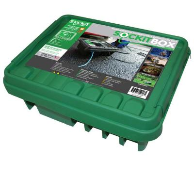 16 in. Weatherproof Powercord Connection Box - Green Product Photo