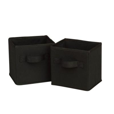 4.9-Qt. Mini Non-Woven Foldable Cube Bin Black (6-Pack)
