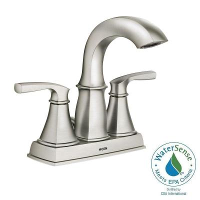 Hensley 4 in. Centerset 2-Handle Bathroom Faucet Featuring Microban Protection