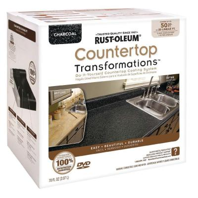 Rust-Oleum Transformations Large Charcoal Countertop Kit (Covers 50 sq. ft.)-DISCONTINUED