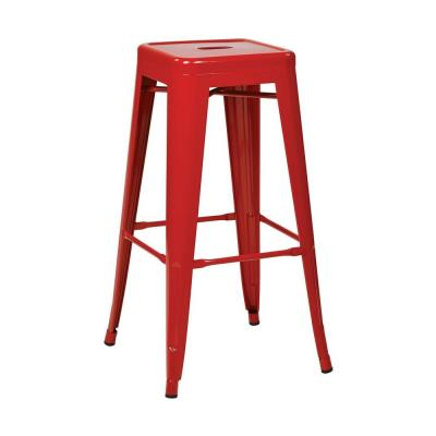 Patterson 30 in. H Steel Backless Bar Stool in Red (2-Pack)