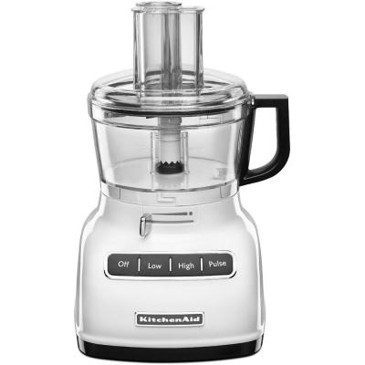ExactSlice 7-Cup Food Processor with External Adjustable Lever in White