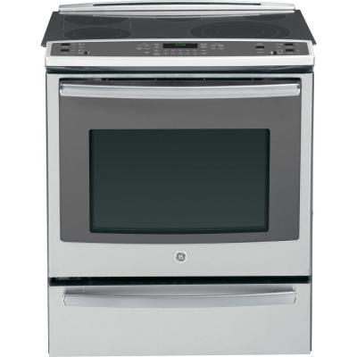 Profile 5.3 cu. ft. Slide-In Electric Range with Self-Cleaning Convection Oven