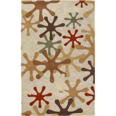 Sarah Off White 4 ft. x 6 ft. Area Rug