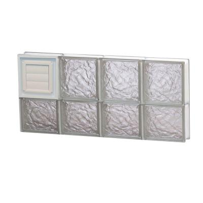31 in. x 13.5 in. x 3.125 in. Ice Pattern Glass Block Window with Dryer Vent Product Photo