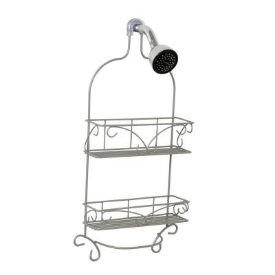 Over-the-Showerhead Shower Caddy in Satin Nickel