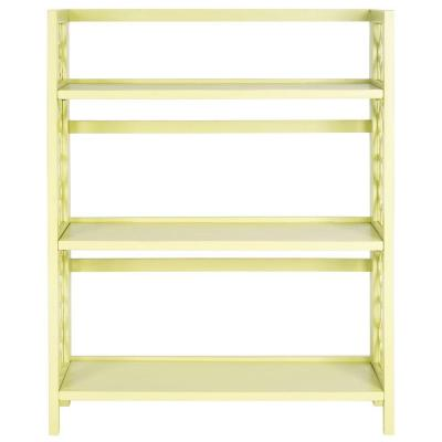 Natalie 3-Shelf Low Bookcase in Avocado Green Product Photo