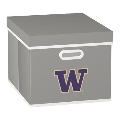 MyOwnersBox College STACKITS University of Washington 12 in. x 10 in. x 15 in. Stackable Grey Fabric Storage Cube