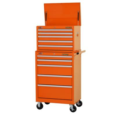 27. in. 10-Drawer Tool Chest and Cabinet Combo, Orange