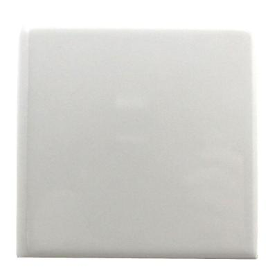 Semi-Gloss White 6 in. x 6 in. Ceramic Bullnose Wall Tile Product Photo