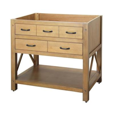foremost avondale 36 in vanity cabinet only in weathered pine