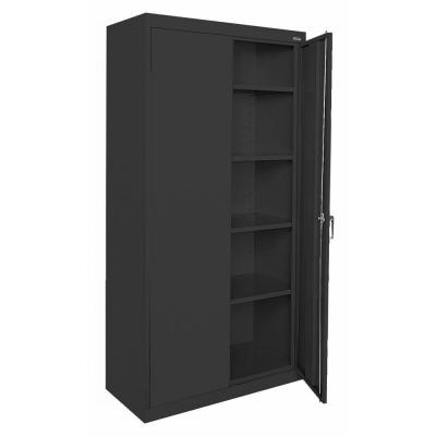 Sandusky Classic Series 36 in. W x 72 in. H x 18 in. D Storage Cabinet with Adjustable Shelves in Black