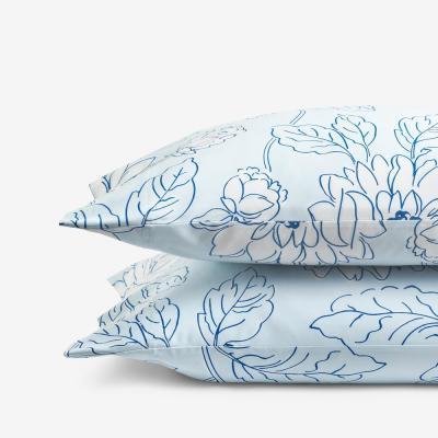 Legends Hotel™ Dahlia Bloom Multicolored Cotton & TENCEL Lyocell Pillowcase (Set of 2)