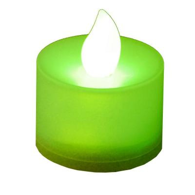 Lumabase Green Flickering LED Tealights (Box of 12)