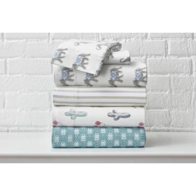 Printed Jersey Knit Sheet Set