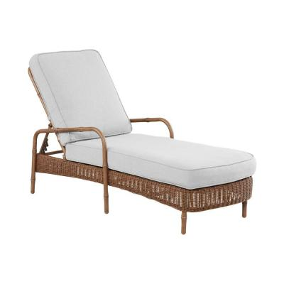 hampton bay clairborne patio chaise lounge with cushion