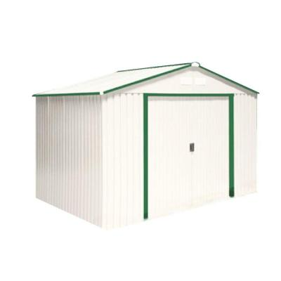 Del Mar 10 ft. x 8 ft. Metal Shed with Foundation Product Photo
