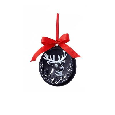 Classic Christmas Collection 5 in. Chalkboard Reindeer Ornament (12-Pack)