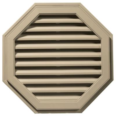 32 in. Octagon Gable Vent in Light Almond
