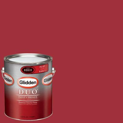 Glidden Team Colors 1-gal. #NFL-176A NFL New England Patriots Red Flat Interior Paint and Primer