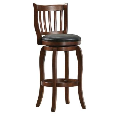 Homesullivan endicott 29 in counter height wood swivel bar stool in cherry brown 40892c780p Home depot wood bar stools