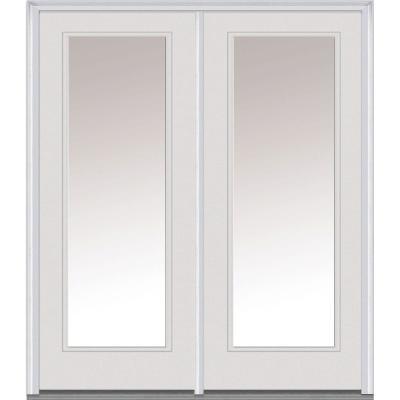Classic Clear Low-E Glass Fiberglass Smooth Prehung Left-Hand Inswing Full Lite Patio Door