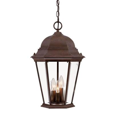 Acclaim Lighting Richmond Collection 3-Light Hanging Outdoor Burled Walnut Lantern