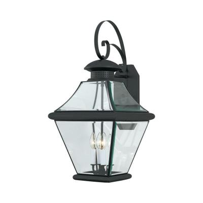 Filament Design Lawrence 4-Light Outdoor Mystic Black Incandescent Wall Light