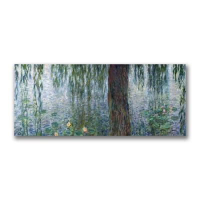 14 in. x 32 in. Water Lilies Morning Canvas Art