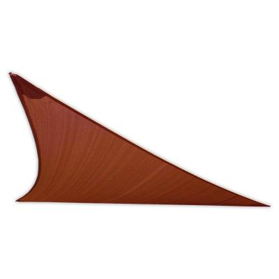 EarthCo Shade Sails 12 ft. Rust Triangle Patio Shade Sail with Mounting Hardware
