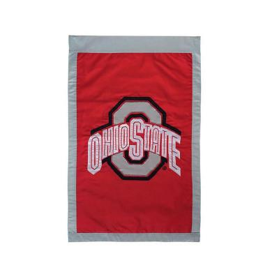 Fan Essentials NCAA 28 in. x 44 in. Ohio State University Applique House Flag