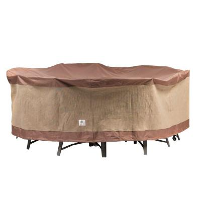 Duck Covers Ultimate 108 In Round Patio Table And Chair Set Cover UTR108108