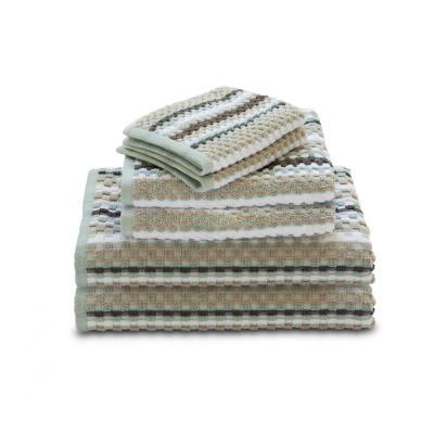 Waffle 6-Piece 100% Cotton Geometri Bath Towel Set