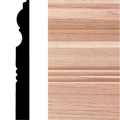 3/4 in. x 6-1/2 in. x 8 ft. Oak Victorian Base Moulding Product Photo