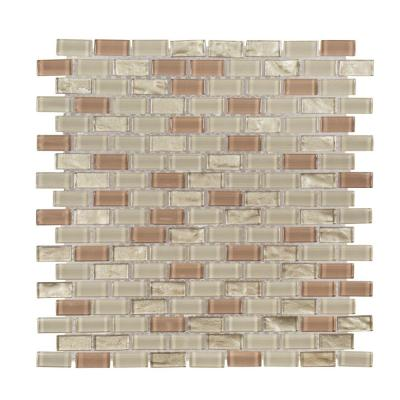 Birch 10-5/8 in. x 11-7/8 in. x 6 mm Glass Mosaic Tile Product Photo