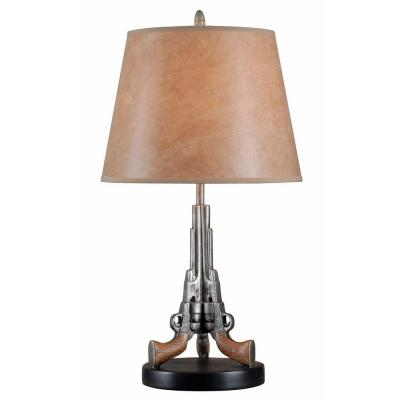 Samuels 27 in. Weathered Steel Table Lamp