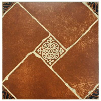 Merola Tile Aranjuez Cotto 17-3/4 in. x 17-3/4 in. Ceramic Floor and Wall Tile (15.75 sq. ft. / case)