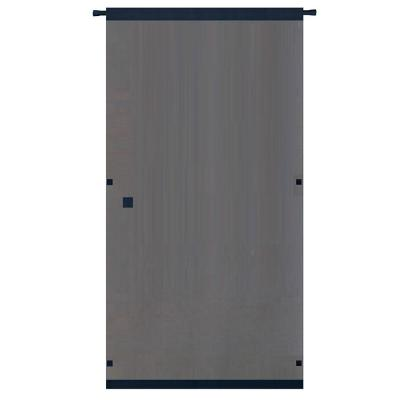 Snavely Forest 38 in. x 80 in. Black Easy to Install Instant Screen Door with Hardware Included