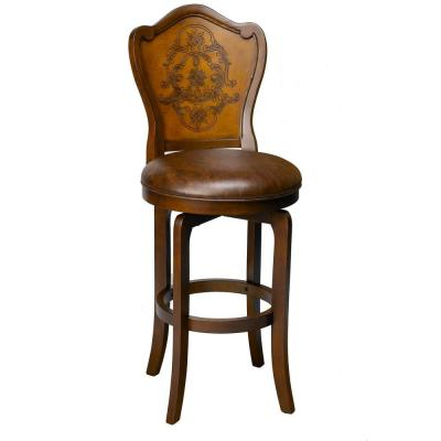 Hillsdale furniture lyon swivel counter bar stool 4870 826 the home depot Home depot wood bar stools