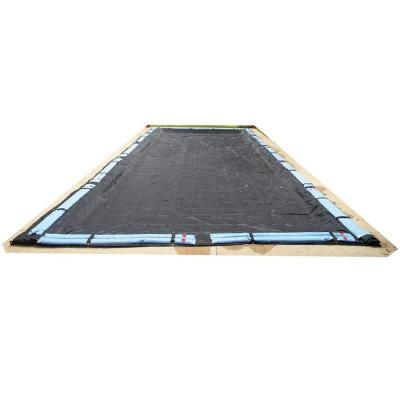 Rectangular Black Rugged Mesh Above Ground Winter Pool Cover