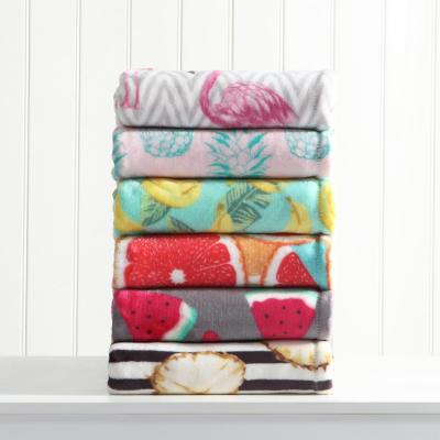 Tropical Plush Throw Blanket