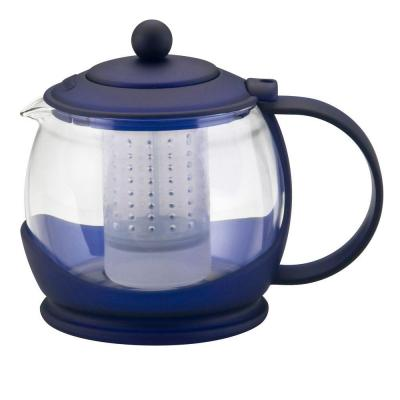 BonJour Prosperity Teapot with Shut-Off Infuser in Blue-DISCONTINUED