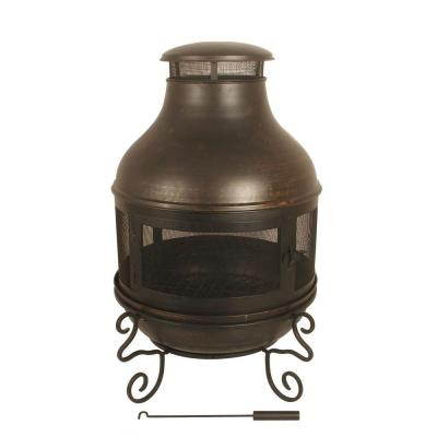 null Black Metal Chiminea