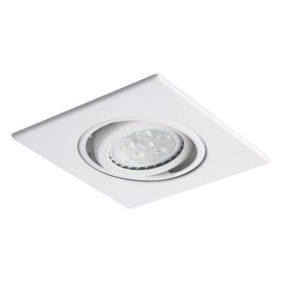 3 in. Matte White Recessed 35 Degree Adjustable Spot Trim with