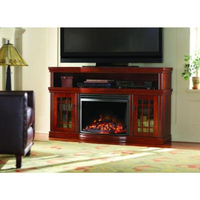 Home Decorators Collection Silverthorne 57 In Media Console Electric Fireplace In Cherry