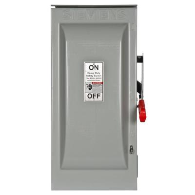 Heavy Duty 100 Amp 600-Volt 2-Pole Outdoor Fusible Safety Switch Product Photo
