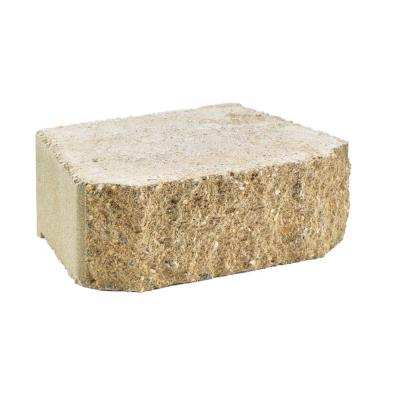 null 4 in. x 11-5/8 in. Tan Windsor Stone Concrete Retaining Wall Block